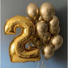 """Композиция на день рождения """"Золотце"""" (Цифра на выбор)"""