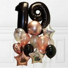 Композиция из воздушных шаров «День Рождение» №19 (Цифра на выбор)