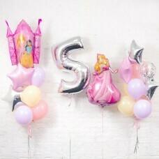 Композиция из воздушных шаров «День рождения Принцессы 5» №125