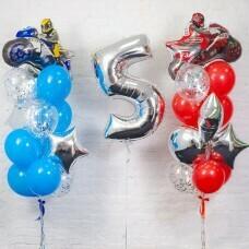 Композиция из воздушных шаров «День рождения Мальчика Мото» №126