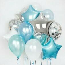 Композиция из воздушных шаров «Звёздное ассорти мальчику» №505