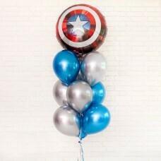 Композиция из воздушных шаров «Капитан Америка Марвел» №75