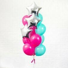 Композиция из воздушных шаров «Звёздный фонтан» №83