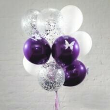 Композиция из воздушных шаров «Гламур» №46