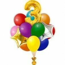 Композиция из воздушных шаров «На день рождения» №504 (Цифра на выбор)