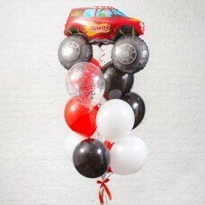 Композиция из воздушных шаров «Машинка» №36