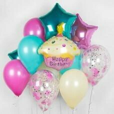 Композиция из воздушных шаров «Милый день рождения» №195