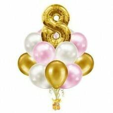 Композиция из воздушных шаров «На день рождения» №888 (Цифра на выбор)