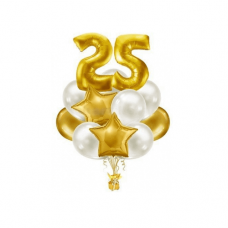 Композиция из воздушных шаров «На день рождения» №502 (Цифра на выбор)