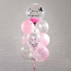 Композиция из воздушных шаров «С днём рождения девочка» №170