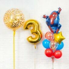 Композиция из воздушных шаров «Человек паук 3» №123