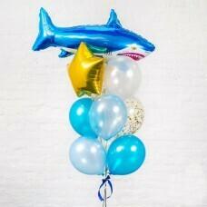 Композиция из воздушных шаров «Акула» №33