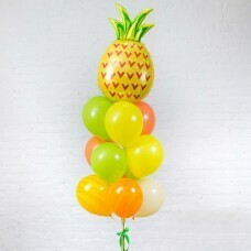 Композиция из воздушных шаров «Ананасовая фотосессия» №102