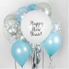 Композиция из воздушных шаров «Happy New Year» №12