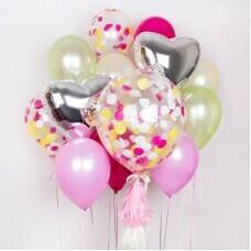 Композиция из воздушных шаров «Влюблённость» №13