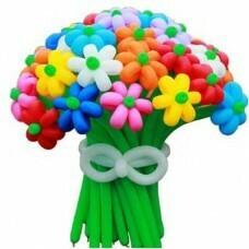 Букет цветов из шариков «Пышное ассорти»
