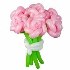 Букет цветов из шариков «Розовое настроение», цена за цветок