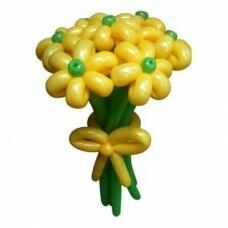 Букет цветов из шариков Жёлтый, цена за цветок