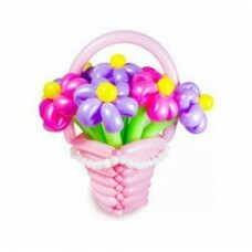 Букет цветов из шариков «Корзина»