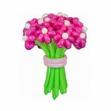 Букет цветов из шариков «Фуше»
