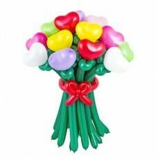 Букет цветов из шариков «Сердца»