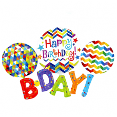 Надпись «Happy Birthday» (183см.)
