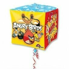 "Шар куб 3D 15"" Angry Birds 38см"