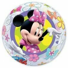 """Шар сфера BUBBLE 22"""" Disney Минни Бантики Цветы 56см"""