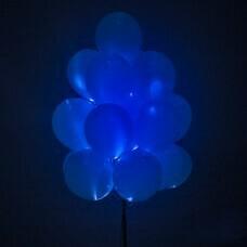 Светящиеся шары синие