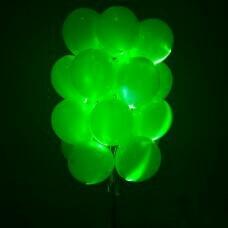 Светящиеся зеленые шары