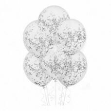Шар с серебряными блестками, 30 см №4