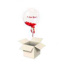 Шар-сюрприз Сфера в коробке крафт (Ваша надпись на выбор)