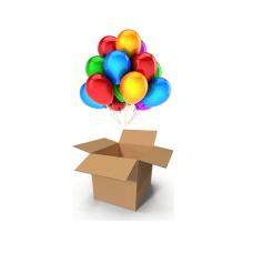 Шар-сюрприз в коробке «Ассорти без рисунка»