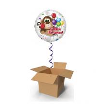 Шар-сюрприз в коробке крафт»С днем рождения» №1