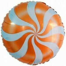Круг из фольги «Оранжевый леденец» (46см.)