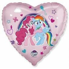 Шар (18''/46 см) My Little Pony, Лошадки Пинки Пай и Радуга