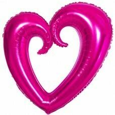 Фигура из Фольги «Сердце» Фуше (102см.)