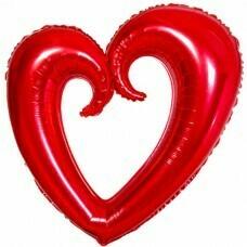 Фигура из Фольги «Сердце» Красный (102см.)