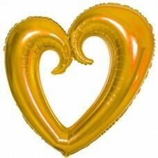 Фигура из Фольги «Сердце» Золото (102см.)
