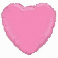 Фольгированное сердце «Розовое» (81см.)