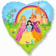 Фольгированное сердце «Принцессы» (46см.)