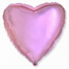 Фольгированное сердце «Светло-розовый» (46см.)