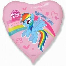 Фольгированное сердце «Little Pony» (46см.)