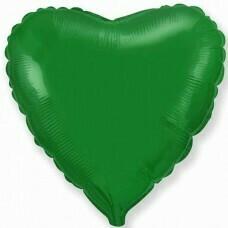 Фольгированное сердце «Зелёный» (46см.)