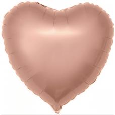Фольгированное сердце «Розовое золото» (46см.)
