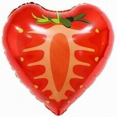 Фольгированное сердце «Клубничка» (46см.)