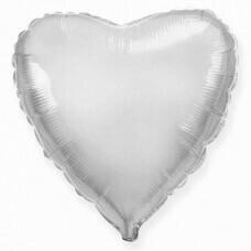 Фольгированное сердце «Серебро» (46см.)