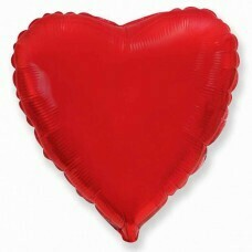 Фольгированное сердце «красный» (46см.)