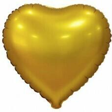 Фольгированное сердце «Золото» (46см.)