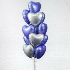 Композиция из воздушных шаров «Облако из Сердец» №177